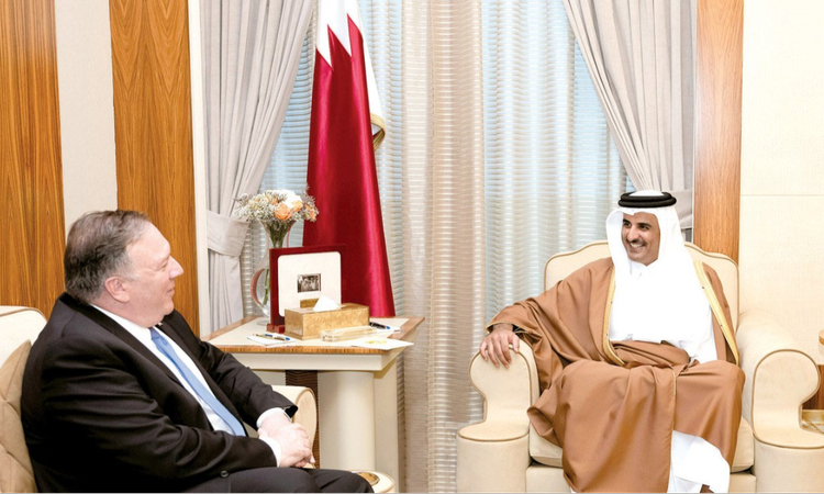 S Pompeo with Amir of Qatar_750x450