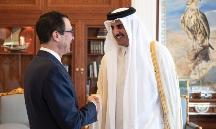 Sec Mnuchin with the Amir _750x450