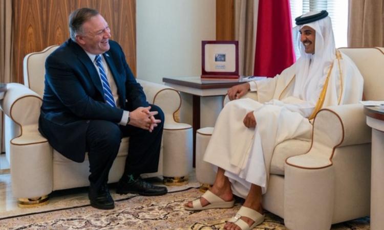 Secretary Pompeo with Amir Of Qatar