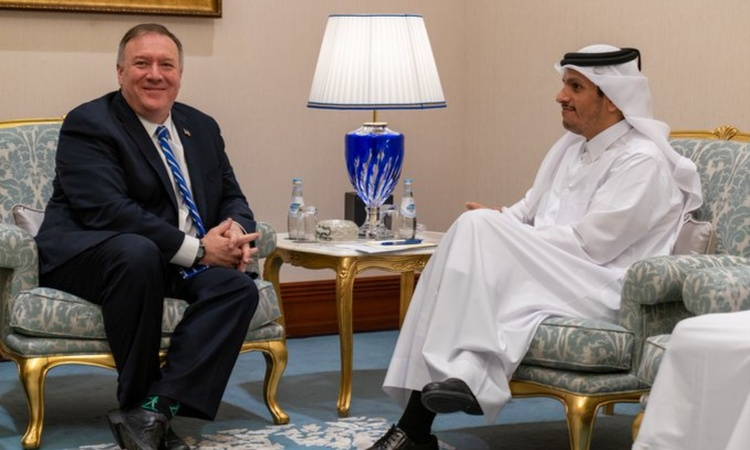 Secretary Pompeo with Deputy Prime Minister and Foreign Minister of Qatar