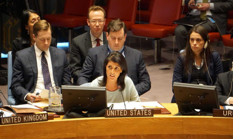 Ambassador Nikki Haley. U.S. Permanent Representative to the United Nations. U.S. Mission to the United Nations.