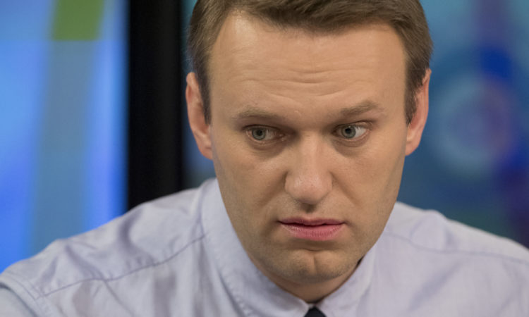 Russian opposition activist Alexei Navalny speaks at the Echo Moskvy (AP Photo/Pavel Golovkin)