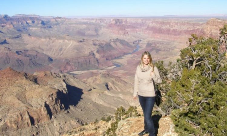 When she is not teaching science to American college students, Mariia Kharina, of Kazan, Russia, finds time to sightsee. On her list: the Statue of Liberty, the Grand Canyon, Mount Rushmore, Niagara Falls and local jazz clubs. (Courtesy photo)