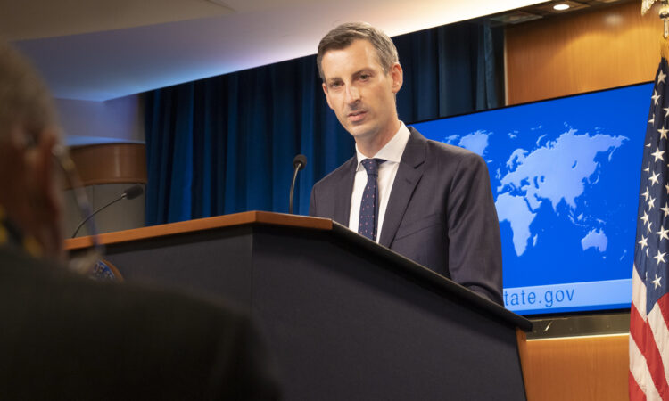Официальный представитель Госдепартамента США Нед Прайс