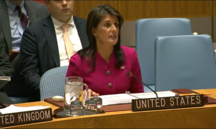 Ambassador Haley Delivers Remarks at a UN Security Council Meeting on Salisbury