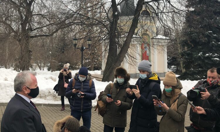 Ambassador Sullivan - Press availability upon attending appeal hearing for U.S. citizen Trevor Reed. Moscow City Court, February 3, 2021
