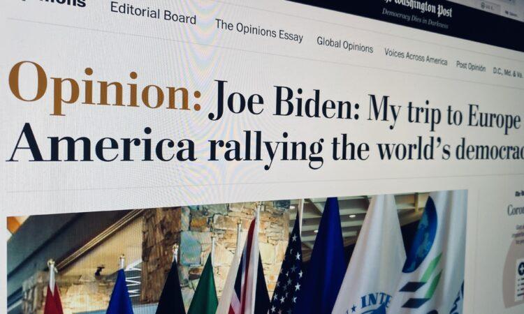 """Джо Байден: """"Моя поездка в Европу связана со стремлением Америки сплотить мировые демократии"""""""
