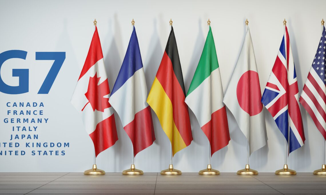 G-7 Flags