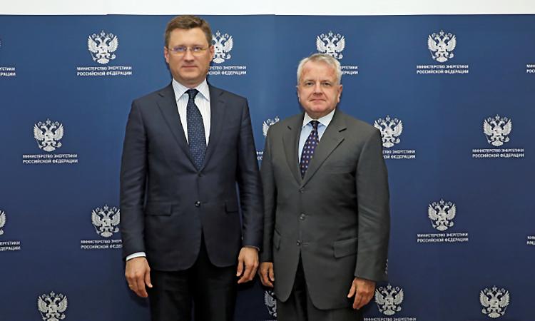 Посол США в РФ Джон Салливан встретился с министром энергетики РФ Александром Новаком 6 февраля 2020 г. Фото любезно предоставлено MinEnergo.gov.ru