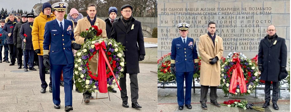 DCM Bart Gorman Lays Wreath at the Motherland Monument in St. Petersburg