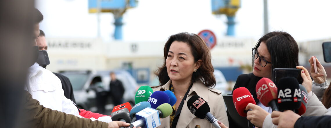 Deklaratë për shtyp e Ambasadores Yuri Kim gjatë vizitës në Portin e Durrësit më 11 shkurt