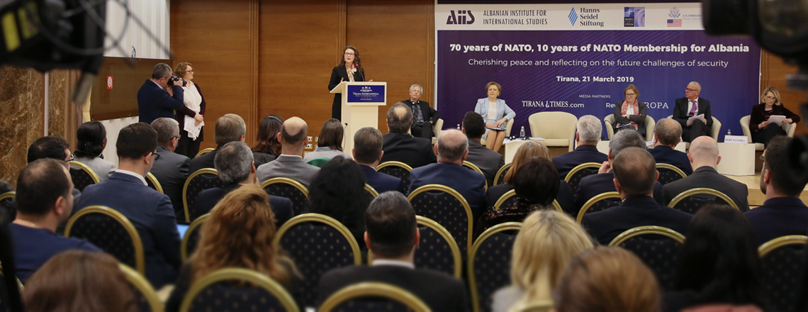 """""""70 years of NATO, 10 years of NATO Membership for Albania"""" Conference"""