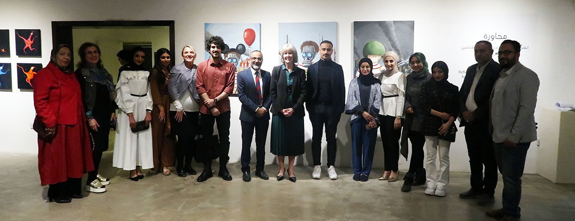 Mashq Art Gallery Hosts Mujawara Art Exhibit, Sponsored by the US Embassy