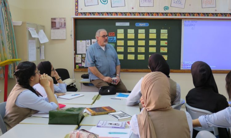 Prof. Lott conducting Writing Workshops at different Schools