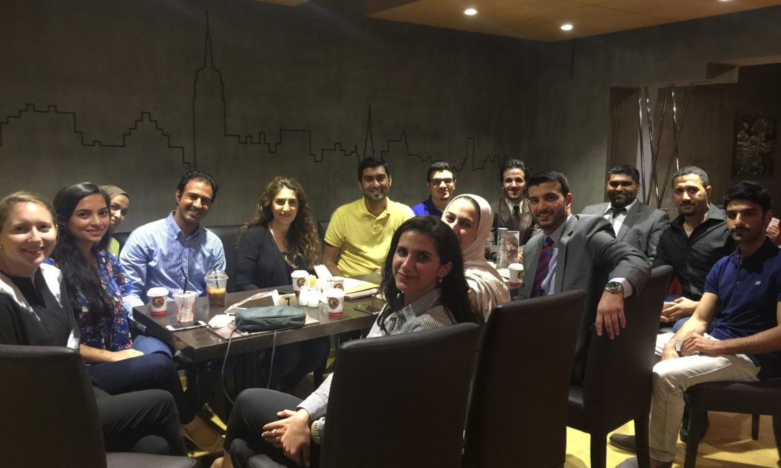 On May 3, 2016, eight Bahraini Fulbright students participating in the 2016 Fulbright Graduate Scholarship program met with Fulbright Alumni