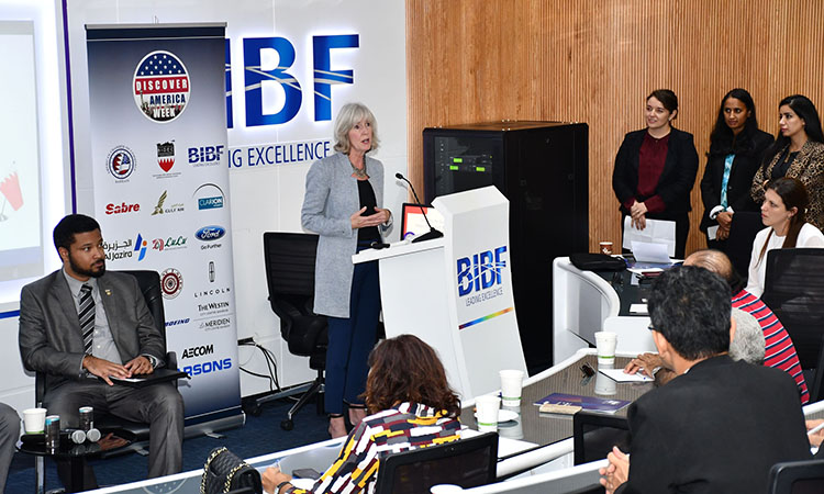US Embassy Deputy Chief of Mission Attends A Seminar on the U.S.-Bahrain FTA