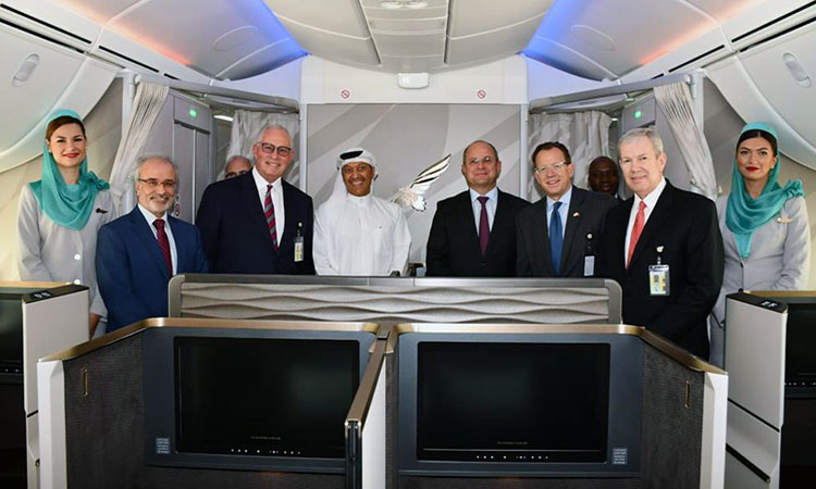 Gulf Air Showcases New Dreamliner to American Ambassador to Bahrain