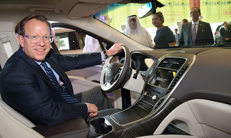 American Ambassador Attends the Launching of New Lincoln At Al-Moayyed Showroom to Celebrate Discover America Week