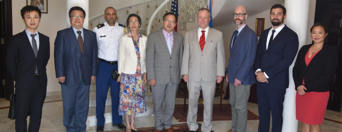 Ambassador André and his Embassy colleagues met with the newly arrived Chinese Ambassador.
