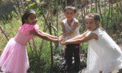 Kids at water tap