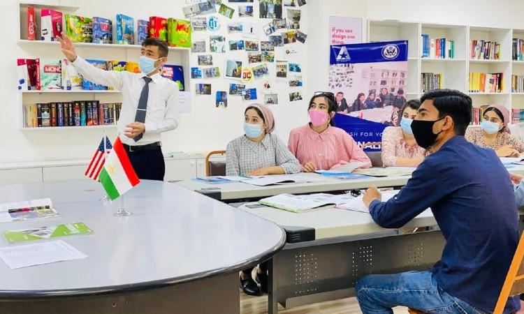 Man speaking to group. (Embassy Image)
