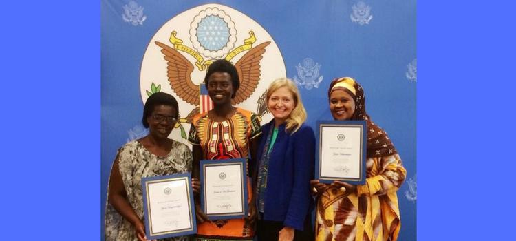 Ambassador Barks-Ruggles recognized three outstanding ladies as Rwandan Women of Courage.