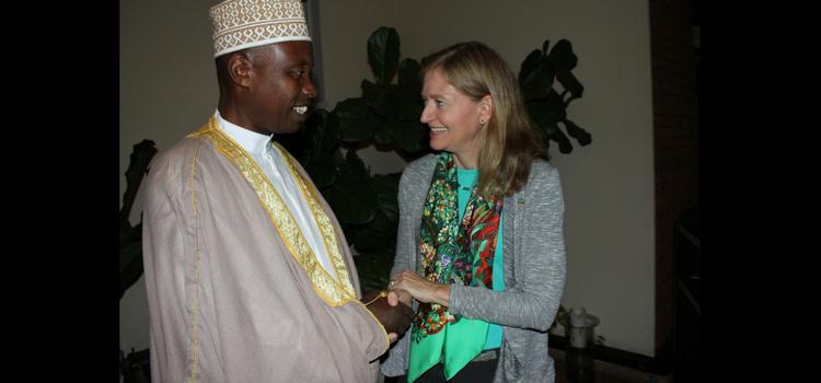 Ambassador Barks-Ruggles meets with Rwandan Mufti Sheikh Salim Hitimana