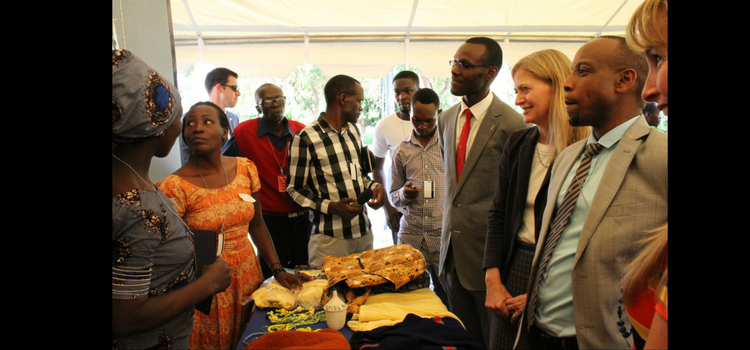 Ambassador Erica J. Barks-Ruggles with cooperatives' members