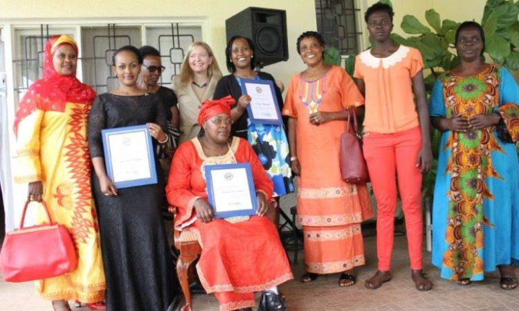 Ambassador to Rwanda Erica J. Barks-Ruggles honored three Rwandan women of Courage