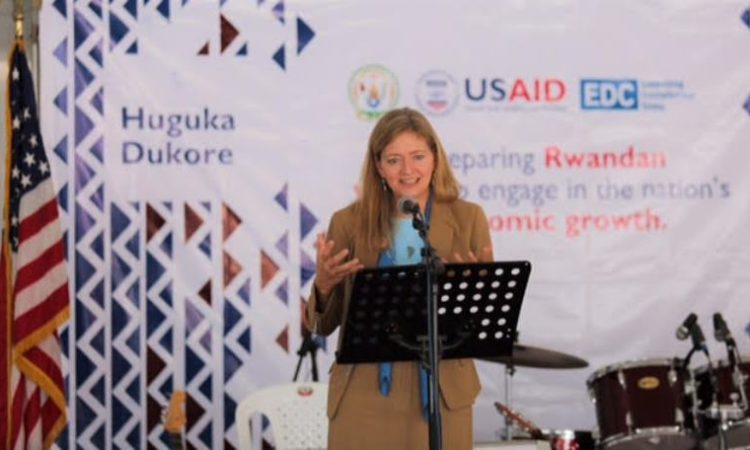 U.S. Ambassador to Rwanda Erica Barks-Ruggles at the launch event.