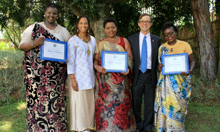 Ambassador Vrooman Presents 2019 Rwandan Women of Courage Awards