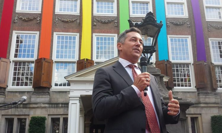 U.S. Envoy on LGBT Issues Randy Berry speaks at Europride 2016 in Amsterdam