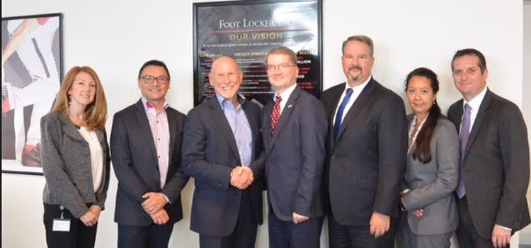 Chargé d'Affaires Shawn Crowley visits U.S. Companies Foot Locker and Nike