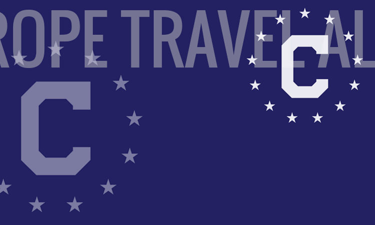 Consular Flag with letters: Europe Travel Alert