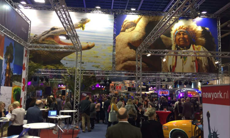 Brand USA Pavilion at the Vakantiebeurs Utrecht, 2017