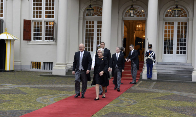 Ambassador Hoekstra presented his credentials to King Willem-Alexander