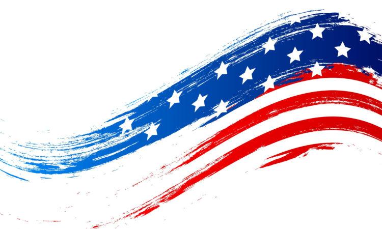 USA Flag wavy