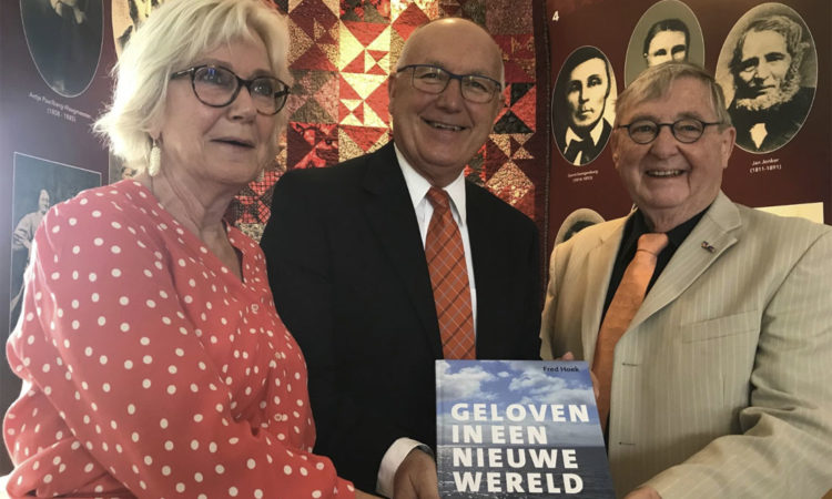 Ambassador Hoekstra, author Fred Hoek, and Councilor Joke Kruit