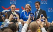 Secretary Pompeo, The Hague Mayor Krikke, and Prime Minister Mark Rutte
