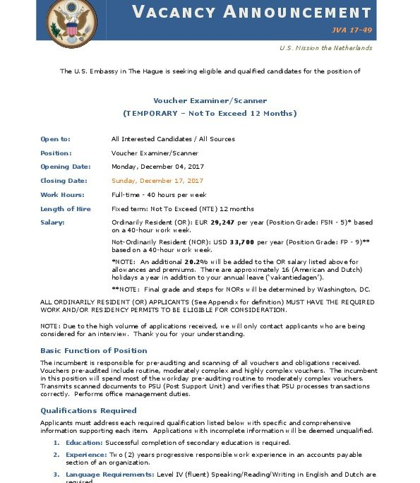 JVA 17-49 Voucher Examiner Scanner | U S  Embassy and