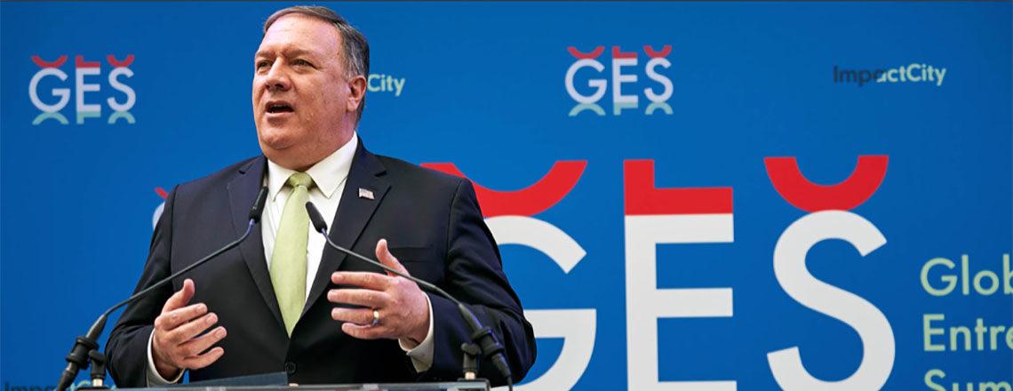 U.S. Secretary of State Mike Pompeo opens the Global Entrepreneurship Summit