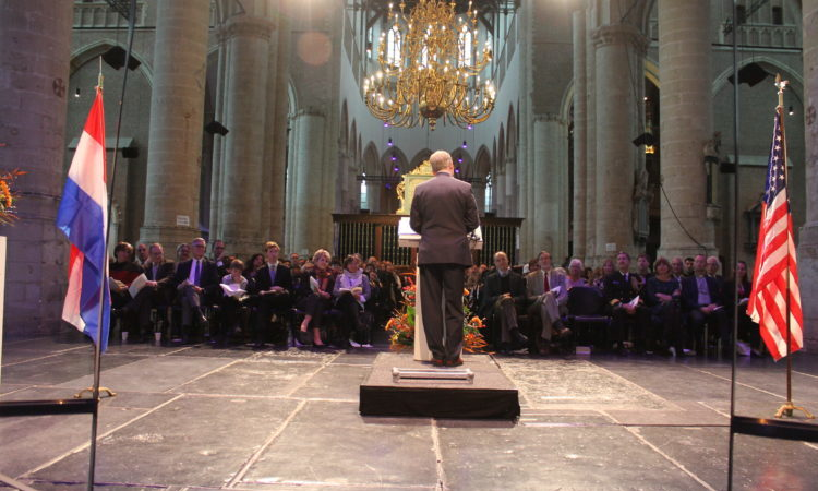 CDA Shawn Crowley speaks in the Pieterskerk.