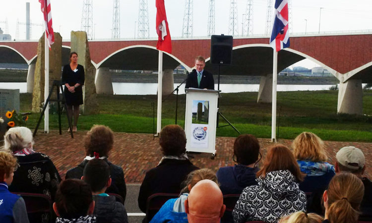 CDA Shawn Crowley makes remarks at 73rd anniversary of Waal River crossing