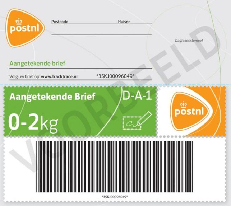 Registered mail stamp