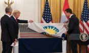 President Trump accepts historic D-Day flag from the Netherlands