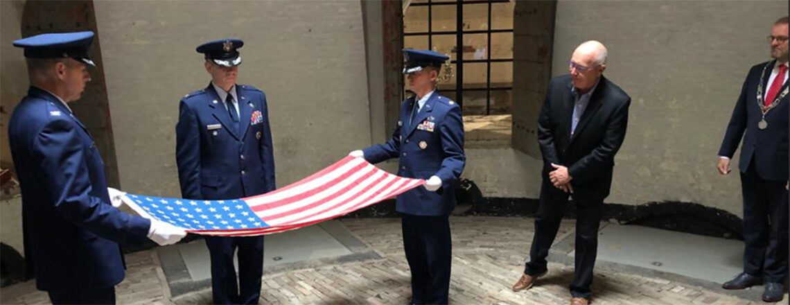 Ambassador Hoekstra attends flag folding ceremony at Sky of Hope WWII and Airmen Museum