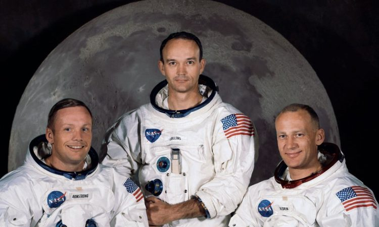 "The crew of Apollo 11, from left, Neil Armstrong, Michael Collins and Edwin ""Buzz"" Aldrin in 1969. Picture: NASA/AP"