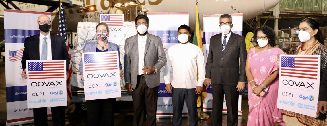 U.S. donates nearly 800,000 Pfizer-BioNTech vaccines to Sri Lanka