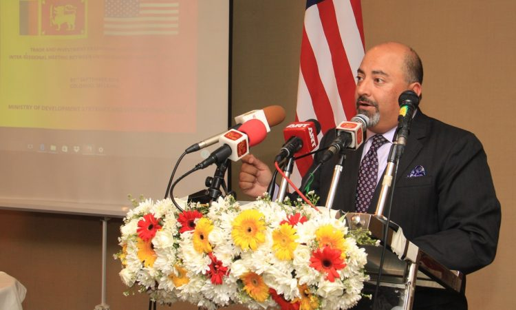 U.S. Ambassador Atul Keshap gives opening remarks to participants of the TIFA Intersessional.