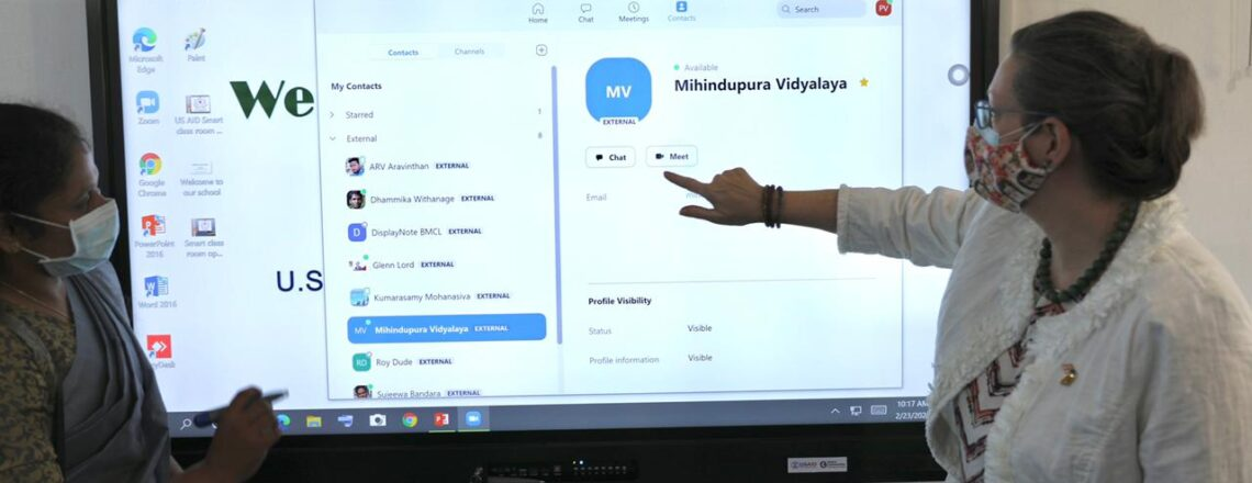 U.S. Ambassador Inaugurates Virtual Platform to Connect Schools